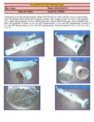 Young Shell and Tube Heat Exchanger Mfg: Young Model: SSF-603 ...