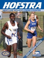 Men's and WoMen's Cross Country - GoHofstra.com