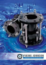 Double flanged fitting that allows longitudinal adjustment