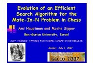 Evolution of an Efficient Search Algorithm for the Mate-In-N Problem ...