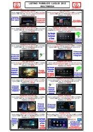 Listino GMA Multimedia Pubblico Lug 2012 - GMA Italia Srl