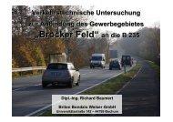 Präsentation Verkehrsuntersuchung Brocker-Feld - Gemeinde Senden