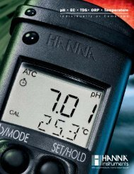 pH • EC • TDS• ORP • Temperature - MBH Engineering Systems