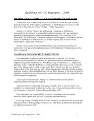 Guidelines for ACC Inspections – 2003 - Goha.us