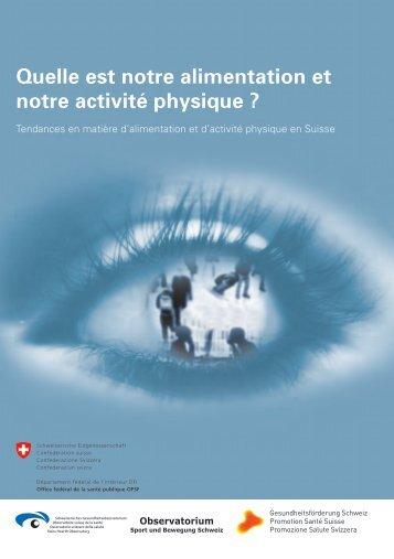 Quelle est notre alimentation et notre activité physique ?
