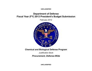 Chemical and Biological Defense Program (CBDP) - Office of the ...