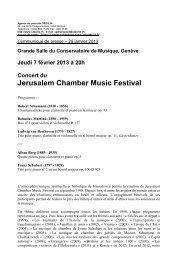 communiqué de presse Jerusalem Chamber Music Festival février ...