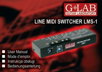 LINE MIDI SWITCHER LMS-1 User Manual - G LAB