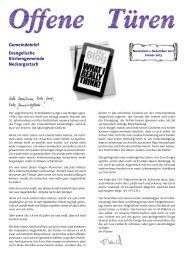 November / Dezember / Januar - Evangelische Kirchengemeinde ...
