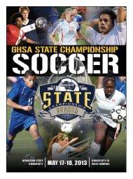 Soccer Event Program - Georgia High School Association