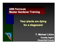 Your plants are dying for a diagnosis! - Gloucester County Virginia
