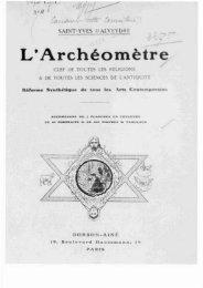 Saint-Yves d'Alveydre, Alexandre - Grand Lodge Bet-El