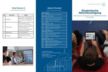 Studentische Abschlusstagung - Universität Hohenheim