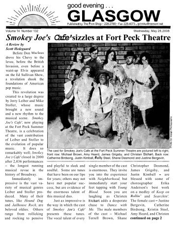 Smokey Joe's Cafe' sizzles at Fort Peck Theatre - Glasgow Montana