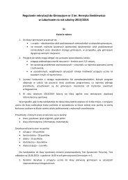 Zasady rekrutacja uczniów do klas pierwszych w roku szkolnym ...