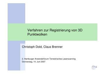 Verfahren zur Registrierung von 3D Punktwolken - Geomatik ...