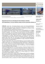 Kemperhof nimmt neue internistische Intensivstation in Betrieb