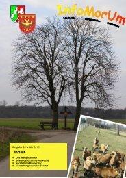 Infomorum - Ausgabe 26 - Stand Mai 2013 - Gemeinde Merzenich