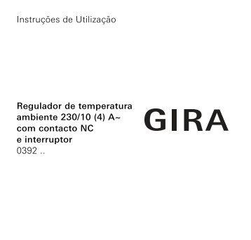 Reguladores da temperatura ambiente 230 V com contacto - Gira