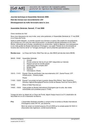 association des ingénieurs des transports publics [GdI AdI ...