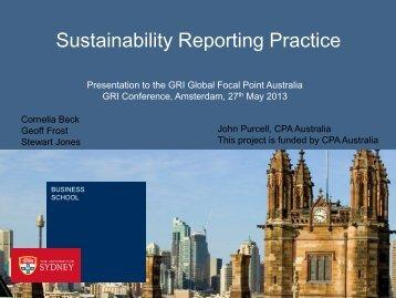 John Purcell - Global Reporting Initiative