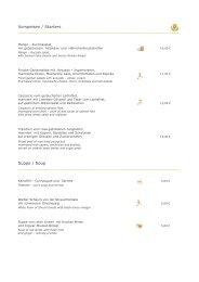 Vorspeisen / Starters Suppe / Soup - the Golden Tulip Berlin - Hotel ...