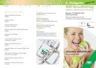 8. Stuttgarter AOK-Gesundheitstag
