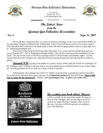 Newsletter #4 - German Gun Collectors Association