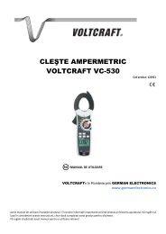 CLEŞTE AMPERMETRIC VOLTCRAFT VC-530 - German Electronics