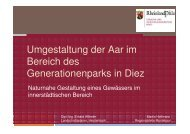 Umgestaltung der Aar im Bereich des Generationenparks in Diez