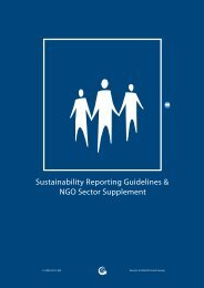 NGO Sector Supplement - Global Reporting Initiative