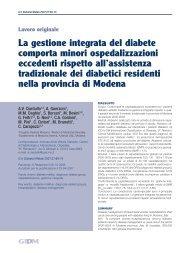 La gestione integrata del diabete comporta minori ... - EpiCentro