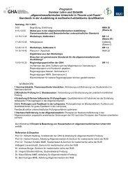 Programm Seminar Lehre und Didaktik ... - GHA