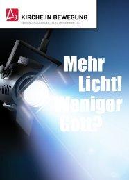 Licht, weniger Gott? - Gemeindekolleg der VELKD