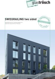 SWISSRAILING two sided Prospekt - Glas Trösch Beratungs-GmbH