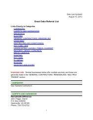 Great Oaks Referral List - Goha.us