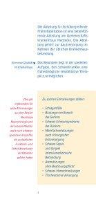 Flyer Frührehabilitation - Gemeinschaftskrankenhaus Herdecke - Seite 3