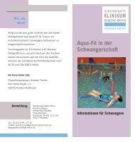 Aqua-Fit in der Schwangerschaft - Gemeinschaftsklinikum Koblenz ...