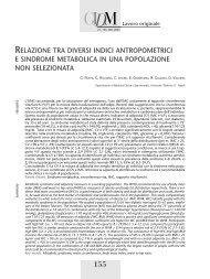 relazione tra diversi indici antropometrici e sindrome metabolica