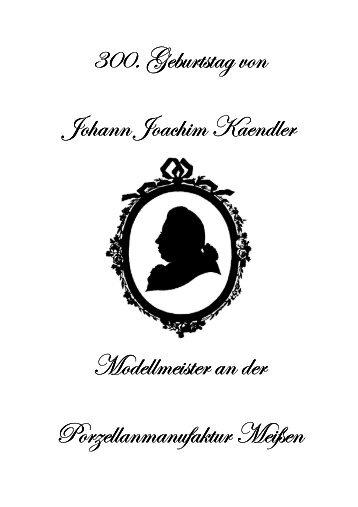 Programm Johann Joachim Kaendler - Fest - Gemeinde Arnsdorf