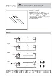 Mineral oxide thermocouple for use in the plastics ... - gefran.cz