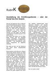 RubriK - (GdP) - Kreisgruppe Recklinghausen