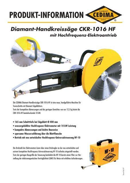 PRODUKT-INFORMATION Diamant ... - CEDIMA GmbH