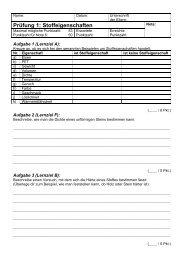 Prüfung 1: Stoffeigenschaften - Gegenschatz.net