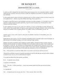DE BANQUET - Grand Lodge Bet-El