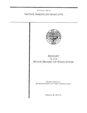 SCHOOLS' L155 OF NATIVE AMERICAN MASCOTS