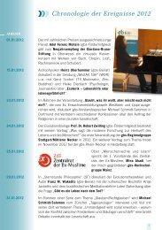 Chronologie der Ereignisse 2012 - Giordano Bruno Stiftung