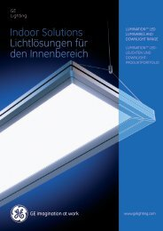 Indoor Solutions - Catalogue (EN/DE) - GE Lighting