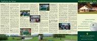Highlights der Saison JAHRESMAGAZIN 2008 - Golfclub am Meer