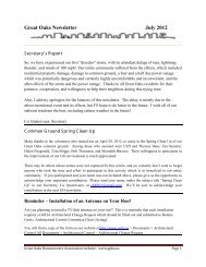Monthly Newsletter - July 2012 - Goha.us